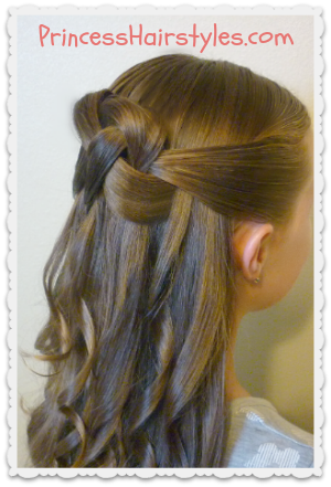 woven knot - hairstyle
