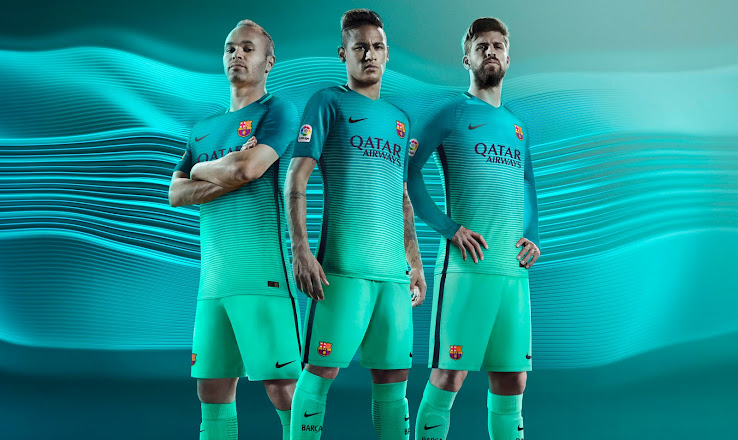 1e40bfb092 Barcelona 16-17 Third Kit Released - Footy Headlines