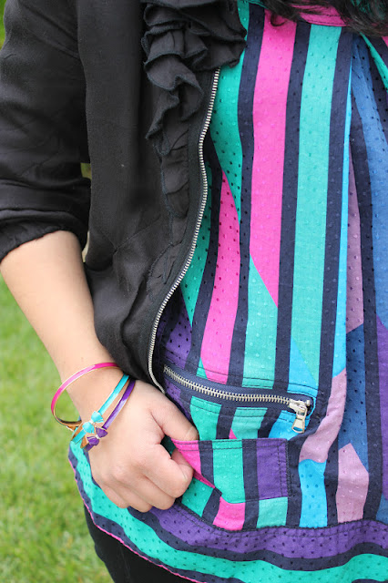 Marc by Marc Jacobs Colorful Tank and F21 Bracelets Outfit
