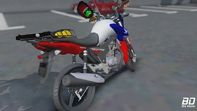 CG FAN 160 de trampo para GTA San Andreas - Traseira