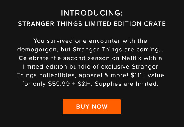 loot crate stranger things crate