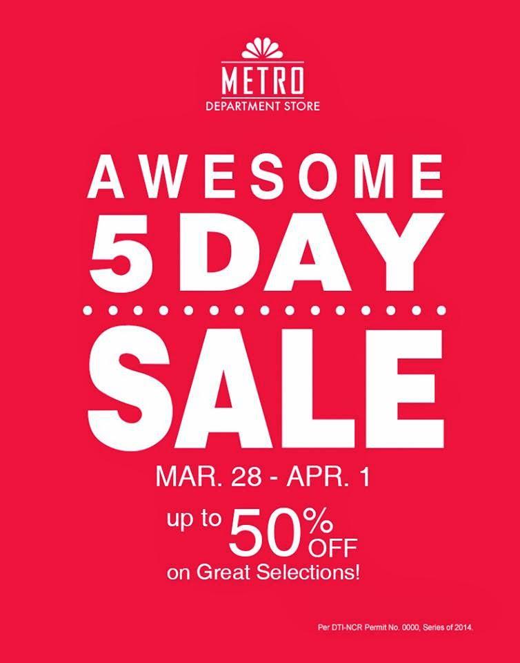 Manila Shopper Metro Stores 5 Day Sale Mar 28 Apr 1 2014