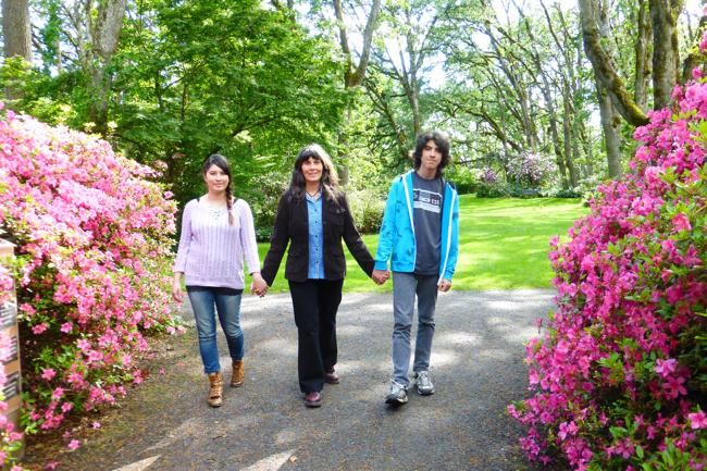Emily-Audrey, June, Takeo, Hendricks Park Rhododendron Garden