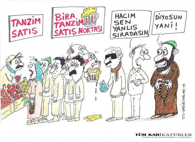 tanzim bira satışı karikatürü