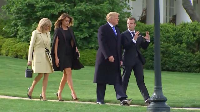 """Melania Trump es """"prisionera de la Casa Blanca"""", según la esposa de Macron"""