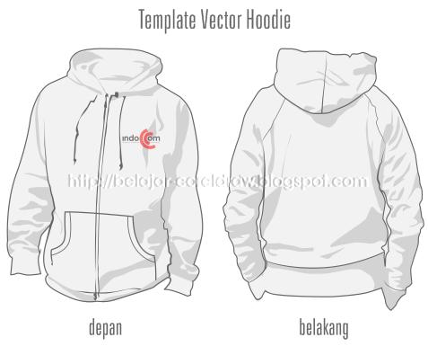 Belajar Coreldraw Download Template Vector Hoodie Depan Belakang Format Cdr