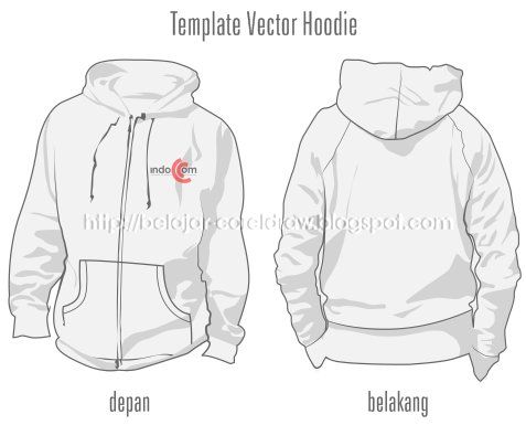 BAGIAN TERTENTU: Download Template Vector Hoodie Depan