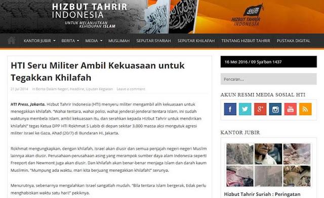 [Breaking News] Pemerintah Blokir Situs Resmi HTI