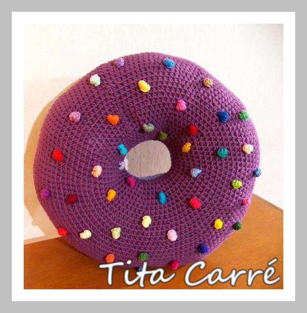 Almofada Donut em crochet