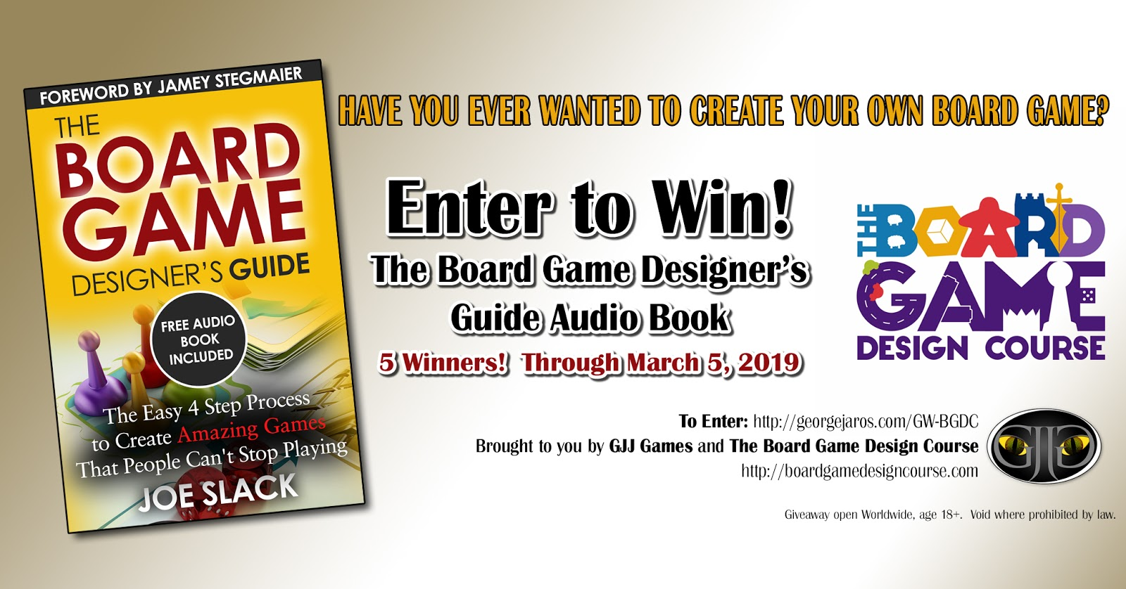 GJJ Games: Giveaway: Win One of Five Free Audio Book copies of the