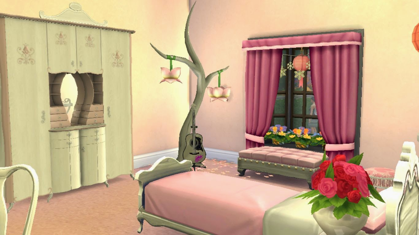 sims 4 dreamy teen bedroom,sims 4 teen room,sims 4 girls room