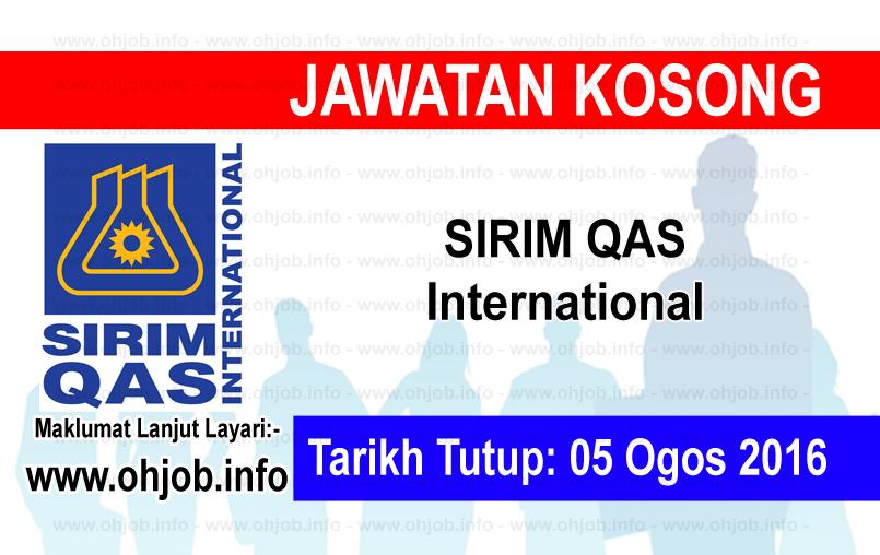 Jawatan Kerja Kosong SIRIM QAS International logo www.ohjob.info ogos 2016