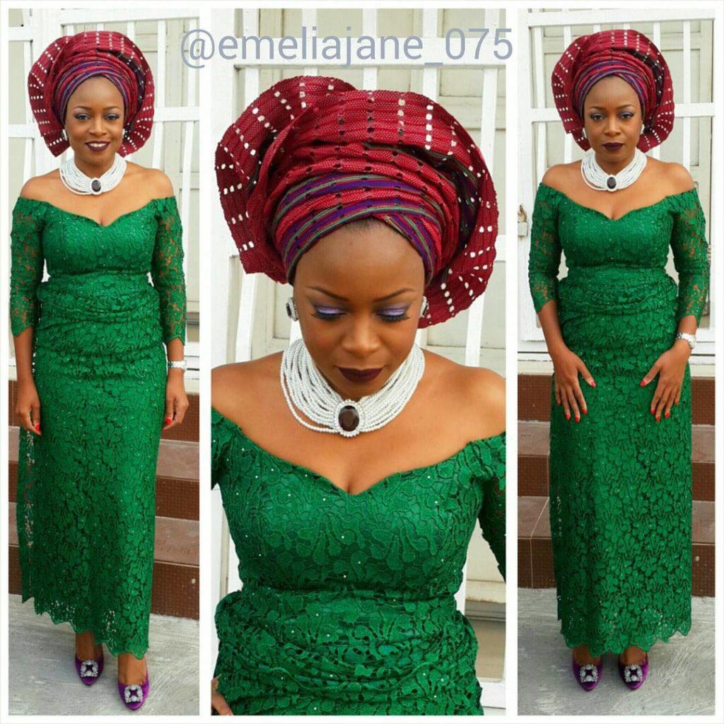 Nigerian Wedding Aso Ebi Styles for Ladies - DeZango Fashion Zone