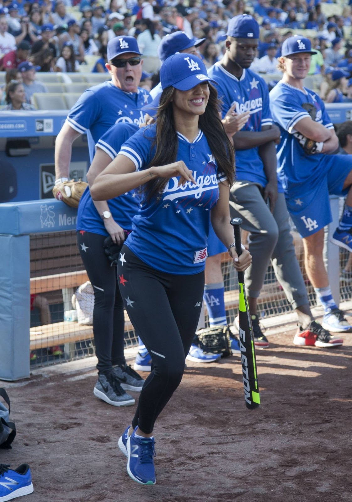 Full HQ Photos of Sexy Eiza Gonzalez at Hollywood Stars Game Dodger Stadium in Los Angeles
