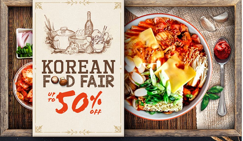 Korean Food Fair - Diskaun Sehingga 50%