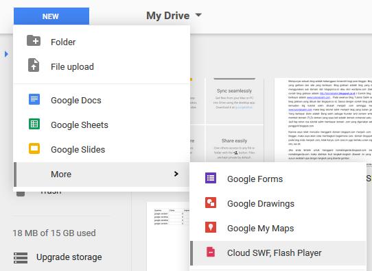 Cara memutar File SWF Melalui Google Drive