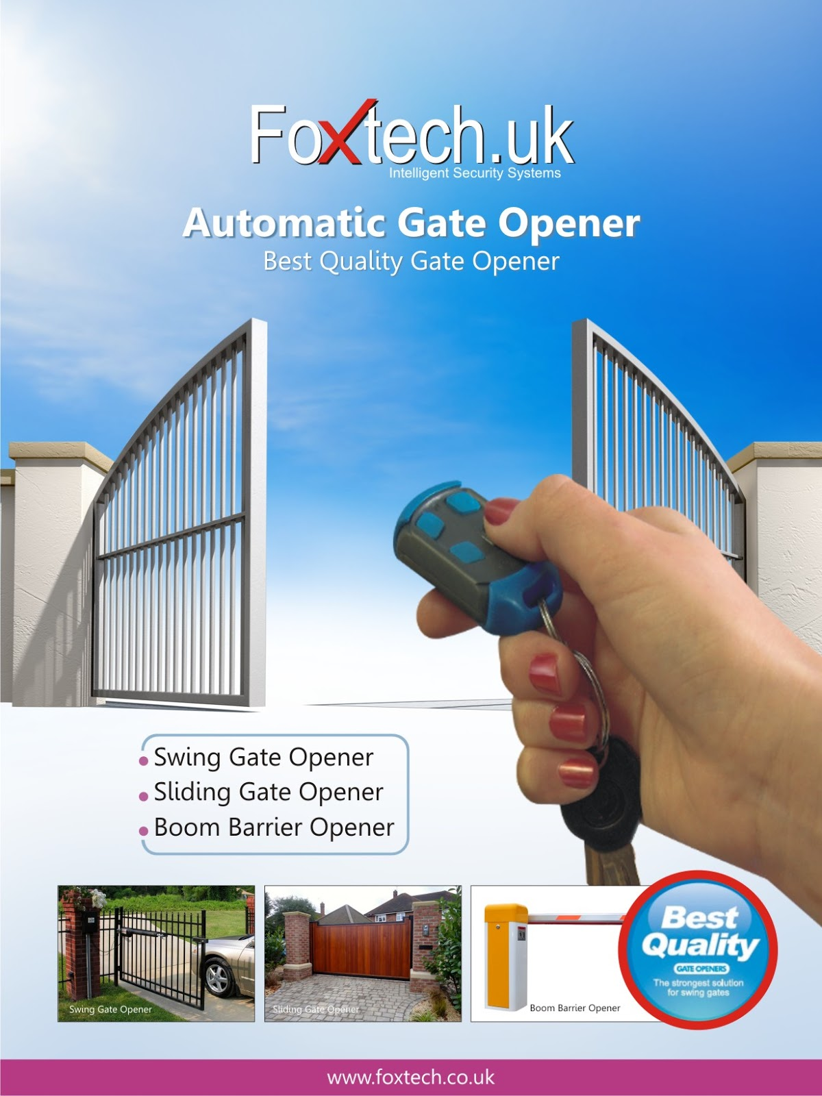 Foxtech India Remote Control Gate Opener Automatic