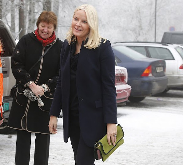 Crown Princess Mette Marit wore STELLA McCARTNEY Bryce Coat , Prada shoes