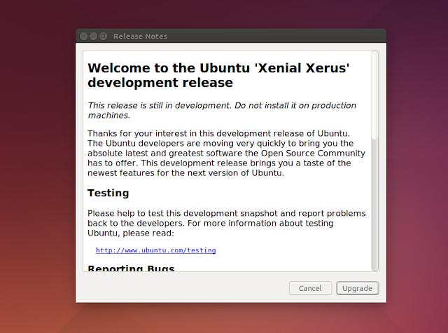 Atualização para o Ubuntu 16.04 LTS