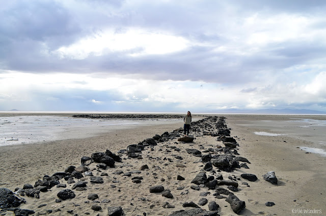 walking the Spiral Jetty