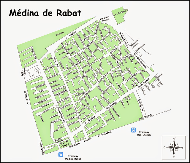 Plan de la Médina de Rabat