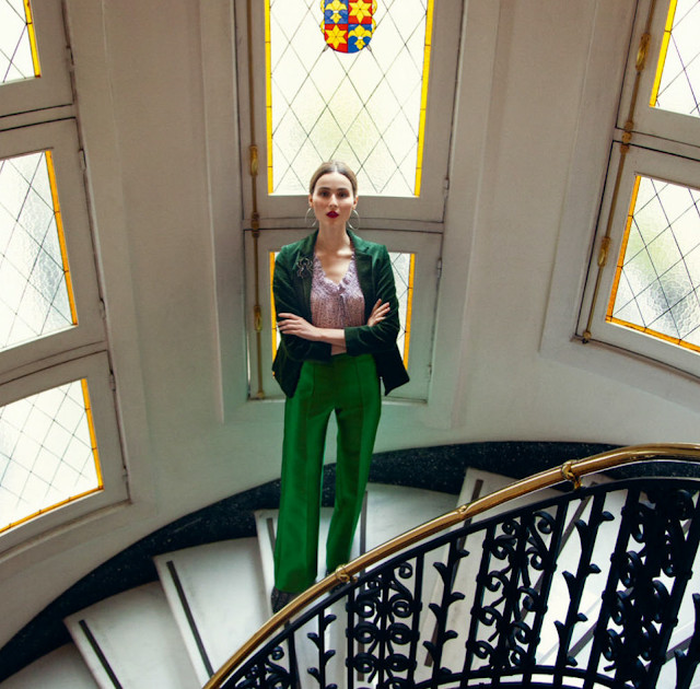 blazer de moda mujer color verde