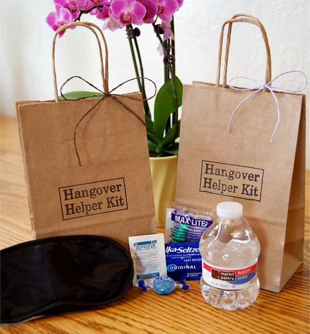 21 Insanely Fun Wedding Ideas Give Guests Hangover Helper Kits Filled With Gatorade Tylenol