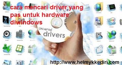 Cara mencari driver