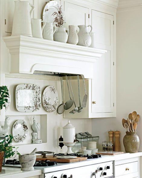 white-ironstone-kitchen-mantel-display