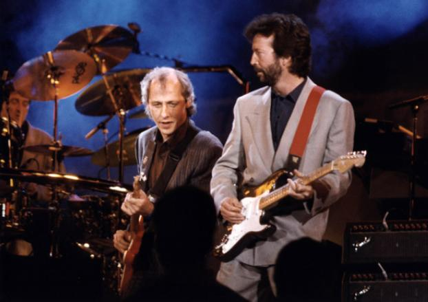 """"""" Dire Straits & Clapton """" Rare video from the warm up for the Mandela show in 1988"""