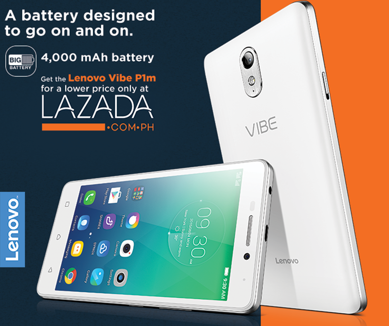 Lenovo Vibe P1m Will Go On Sale At Lazada This December 7 For PHP 4999 Only!