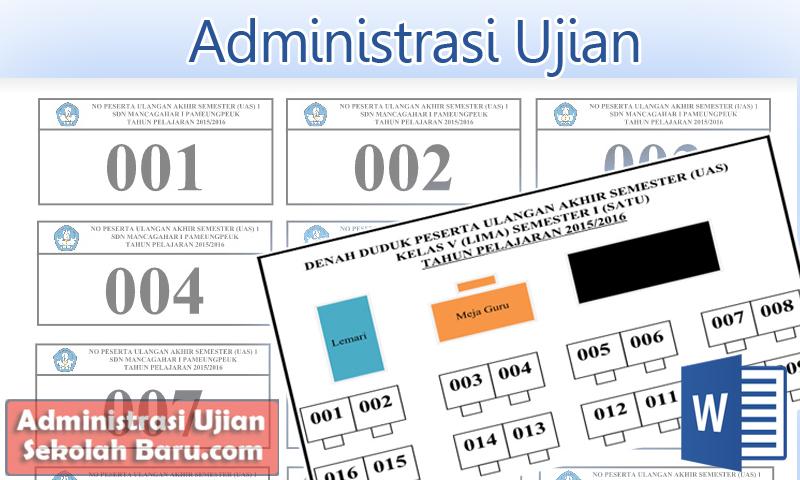 Contoh Denah Duduk Peserta Ujian Format Doc