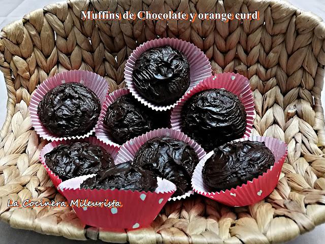 Muffins De Chocolate Y Orange Curd