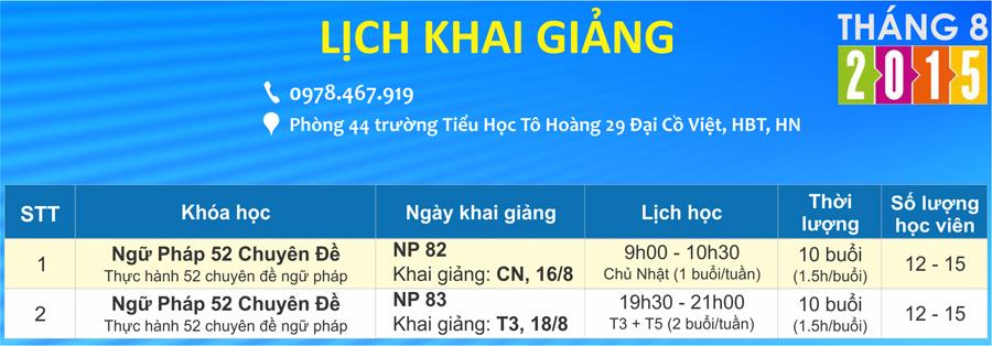 Lớp học tiếng Anh miễn phí tại Hà Nội tổ chức thường xuyên vào các tháng do Kazobi English