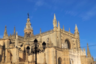 Sevilla is a Top Spot to visit on your bike tour with Cathedral where Columbus is buried