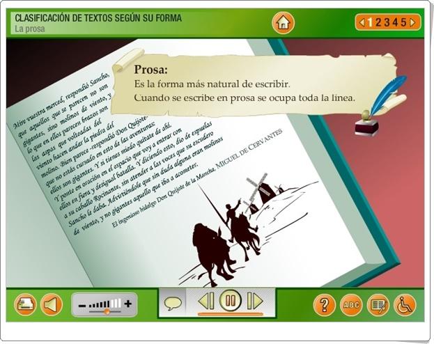 """""""La prosa"""" (Aplicación interactiva de Lengua Española de Primaria)"""
