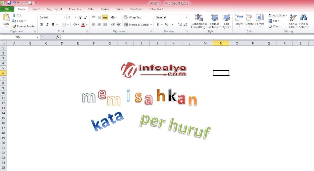 ini Cara Memisahkan Kata per Huruf di Excel