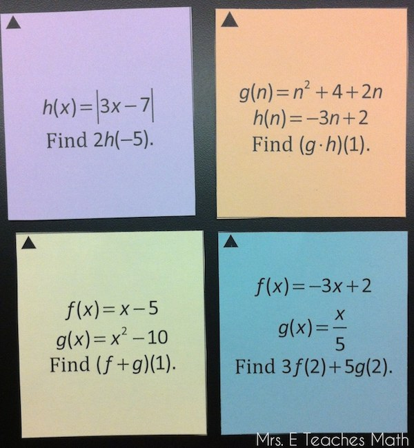 Function Operation and Composition Sum Em Activity - fun activity - free download  |  mrseteachesmath.blogspot.com