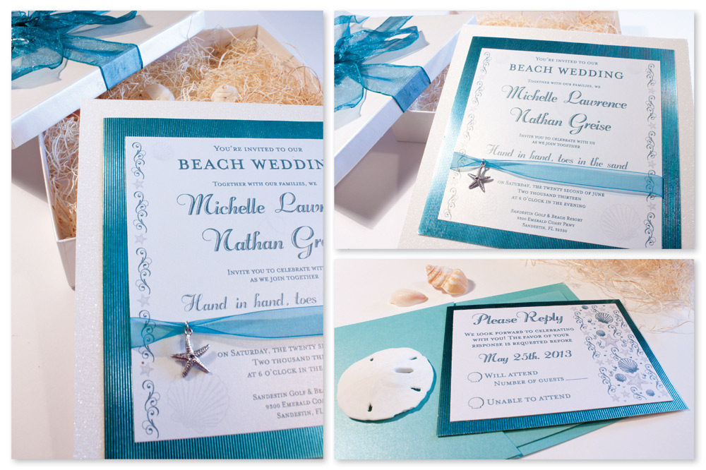 Beach Themed Wedding Invitations Templates: Memoires D'Amour Weddings: Beach Wedding Invitations
