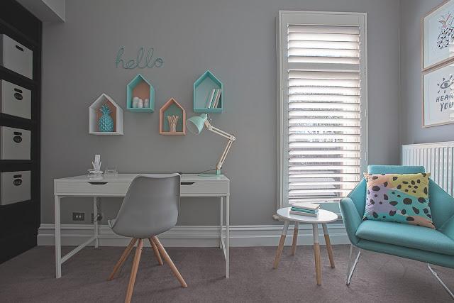 Blog Achados de Decoração: decoração leve e turquesa no quarto das irmãs adolescentes
