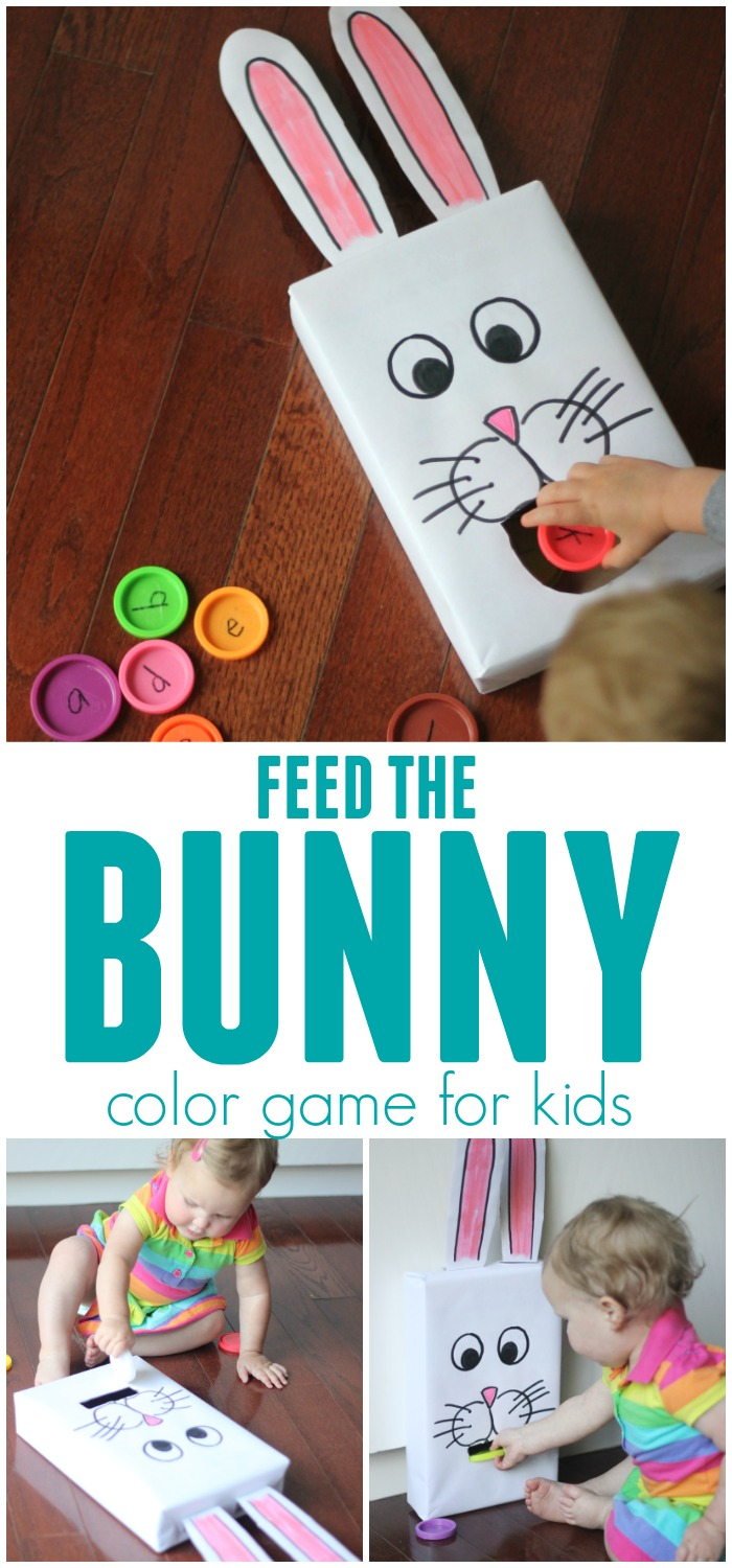 Toddler Approved!: Cereal Box Feed the Bunny Color Game for Kids