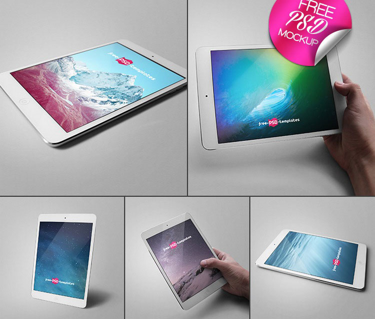 Free Ipad PSD Mock-up