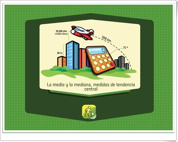 """""""La media y la mediana"""" (Aplicación interactiva de Estadística de Primaria)"""