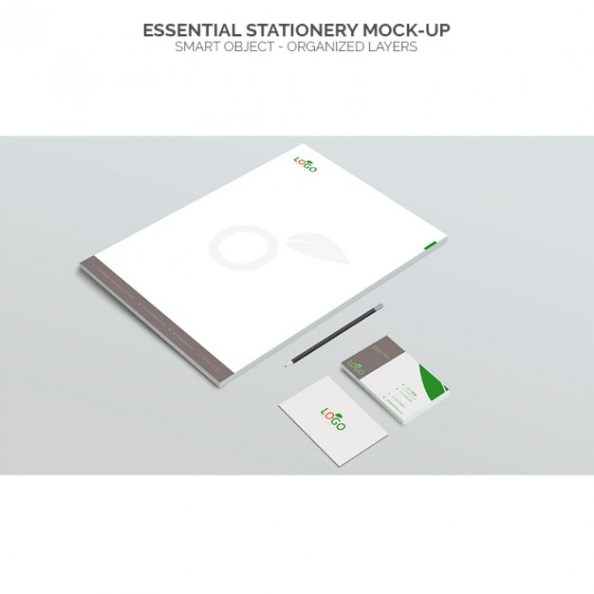Essential Stationery Mockup Free PSD Design