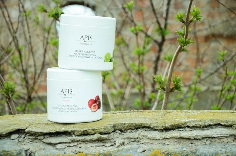 APIS Professional | Maski algowe 'Owoce cytrusowe + Ogórek' i 'Żurawina + Granat'