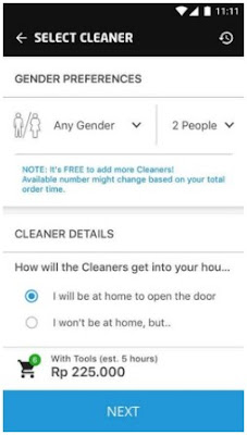 Cara Pesan GO CLEAN Jasa Cleaning Service Gojek
