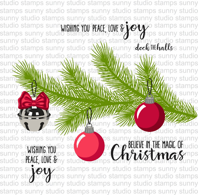 Sunny Studio Stamps: Holiday Style Stamp Example