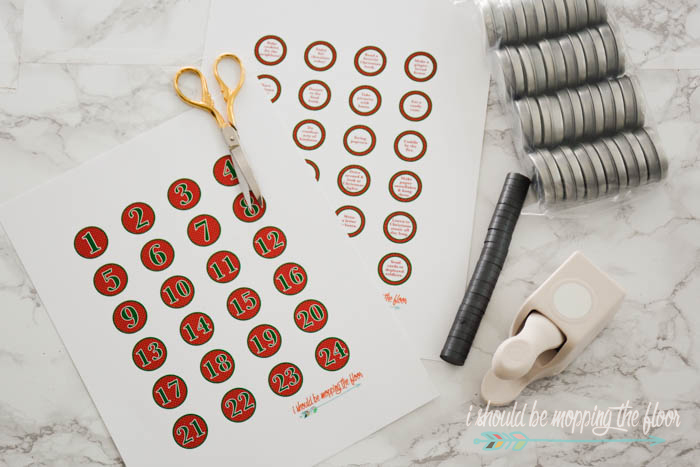 DIY Magnetic Advent Calendar | Download the free printable numbers and activities and follow the simple tutorial for this fun activity.