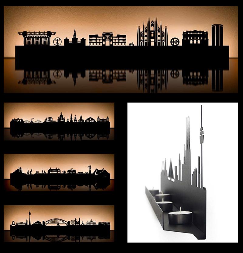 City Skyline Candle Holders