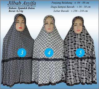 Jilbab bergo motif monochrome terbaru edisi 2016